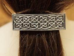 """Haarclip  """" Celtic knot """"   Zilverkleurig"""