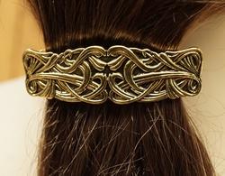 """Haarclip  """" Keltische knoop """"   Koperkleurig"""