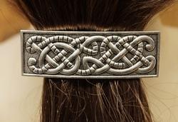 """Haarclip  """" Celtic snake """"   Zilverkleurig"""