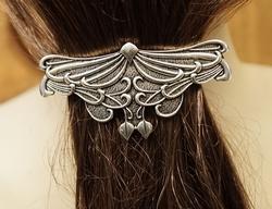 """Haarclip  """" Keltische vlinder """"   Zilverkleurig"""