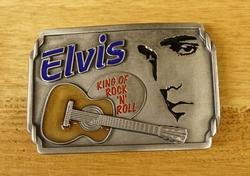 """Elvis buckle  """" Elvis  The King of Rock 'n Roll  """""""