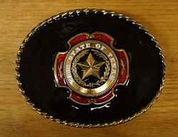 "Buckle "" The state of Texas ""  zwarte achtergrond"