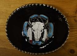 "Buckle "" Longhorn op dreamcather ""  zwarte achtergrond"