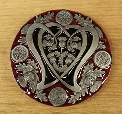 "Buckle  "" Thistle in hart """