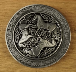 "Buckle / gesp  "" Celtic horses """