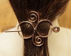"""Haarspeld met haarstokje  """" Keltische knoop """""""
