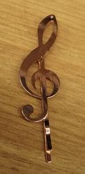 """Haarschuifje  """" Muziek teken """"  rose    per stuk"""