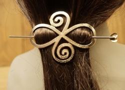 "Haarspeld  "" Celtic knot ""  koper kleurig"
