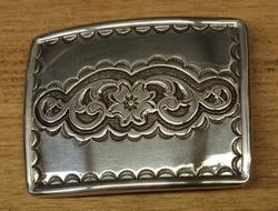 """Sterling zilveren buckle  """" Bloemenmotief """""""
