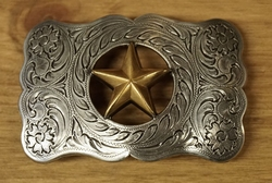"Sterling zilveren buckle  "" Texas star """