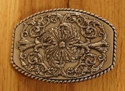 """Sterling zilveren buckle  """" Decoratie bloemen """" zilver/goud"""