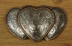 """Sterling zilveren buckle  """" Hartjes """"  zilver/goud"""