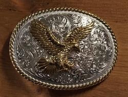"""Sterling zilveren buckle  """" Adelaar """"  zilver / goud"""