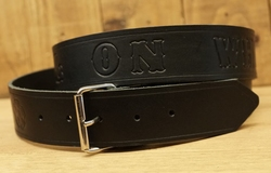 "Buckle riem ""  Hell on wheels  ""  Zwart"