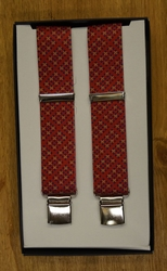 "Bretels 4-clips  "" Figuur  "" Rood"