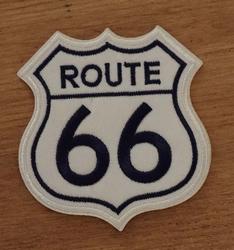 """Applicaties  """" Route 66  """"  wit / blauw"""