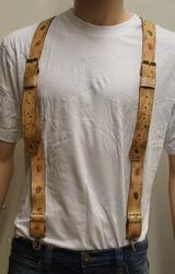 Leren bretels