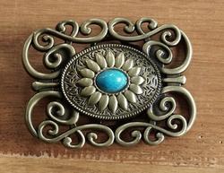 """Belt buckle  """" Siermotief met turquoise steen  """""""