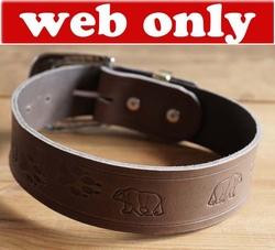 Leren hondenhalsband
