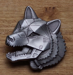 """Science fiction buckle  """" Robot wolf """""""