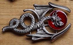 """Buckle / gesp """" Keltische draak"""