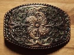 Oud koper buckle