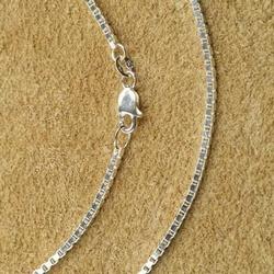 Zilveren ketting venetiaans