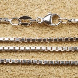 Zilveren ketting gerhodineerd