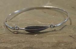 Zilveren bangle armband