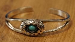 Turqoise stenen armband