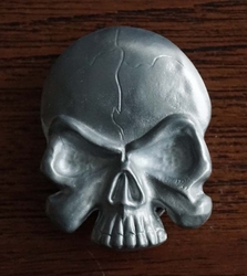 "Belt buckle  "" Skull in vlammen """