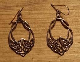 Bronzen oorbellen