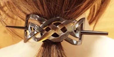 Haarspelden met stokjes ( hoorn )