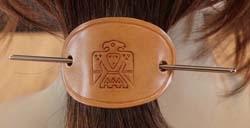 Leren haarspelden indiaanse styl